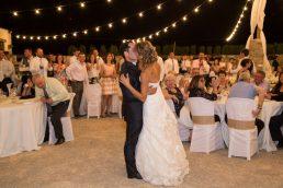 Reportaje de bodas -baile novios