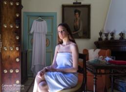 Reportaje en casa de la novia - preparativos boda - Carmen Morales Fotografía